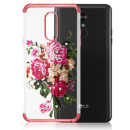 *Sale* Klarion Crystal Clear Diamond Tough Case for LG Stylo 5 - Pink Peony