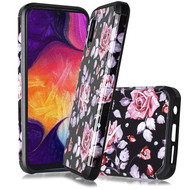 Hybrid Multi-Layer Armor Case for Samsung Galaxy A10e - Pinky White Rose