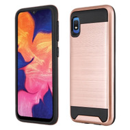 Brushed Coated Hybrid Armor Case for Samsung Galaxy A10e - Rose Gold