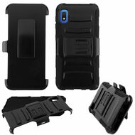 Advanced Armor Hybrid Kickstand Case with Holster Belt Clip for Samsung Galaxy A10e - Black