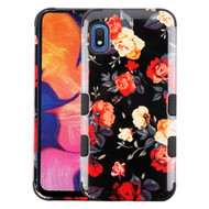 Military Grade Certified TUFF Hybrid Armor Case for Samsung Galaxy A10e - Red and White Roses