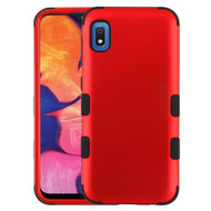 Military Grade Certified TUFF Hybrid Armor Case for Samsung Galaxy A10e - Red