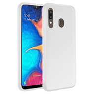 Frost Semi Transparent Hybrid Case for Samsung Galaxy A20 - White