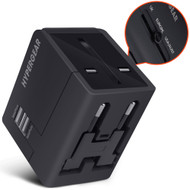 HyperGear All-In-One World Travel Power Adapter - Black