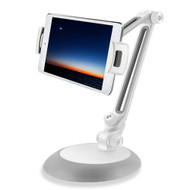 Universal Aluminum Desktop Bracket Stand for Smartphone and Tablet - Grey