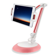 Universal Aluminum Desktop Bracket Stand for Smartphone and Tablet - Pink