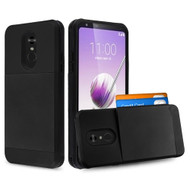 Compact Duo Credit Card Hybrid Armor Case for LG Stylo 5 - Black