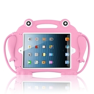 Frog Kids Friendly Drop Resistant Case with Handle & Stand for iPad (2018/2017) / iPad Pro 9.7 / iPad Air 2 - Pink