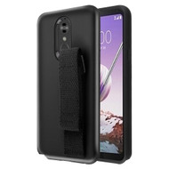 *Sale* Fuse Slim Armor Hybrid Case with Integrated Hand Strap for LG Stylo 5 - Black