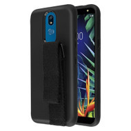 Fuse Slim Armor Hybrid Case with Integrated Hand Strap for LG K40 - Black
