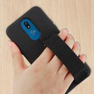 Fuse Slim Armor Hybrid Case with Integrated Hand Strap for LG K40 - Black