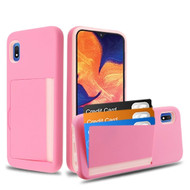 *Sale* Poket Credit Card Hybrid Armor Case for Samsung Galaxy A10e - Pink