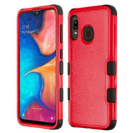 *Sale* Military Grade Certified TUFF Hybrid Armor Case for Samsung Galaxy A20 - Red