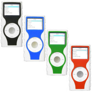 4-Pack Tough Two-Tone Silicone Skin Cover for 2nd Generation iPod Nano