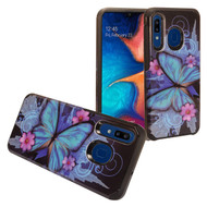 Hybrid Multi-Layer Armor Case for Samsung Galaxy A50 / A20 - Butterfly
