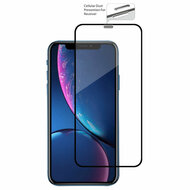 Edge to Edge Full Adhesive Tempered Glass Screen Protector with Dustproof Net for iPhone 11 / iPhone XR - Black