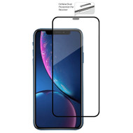 Edge to Edge Full Adhesive Tempered Glass Screen Protector with Dustproof Net for iPhone XR - Black