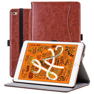 Slim Folding Smart Leather Folio Stand Case for iPad Mini 5 (5th Generation) / iPad Mini 4 - Brown
