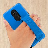 *Sale* Fuse Slim Armor Hybrid Case with Integrated Hand Strap for LG Stylo 5 - Blue