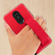 *Sale* Fuse Slim Armor Hybrid Case with Integrated Hand Strap for LG Stylo 5 - Red