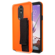 *Sale* Fuse Slim Armor Hybrid Case with Integrated Hand Strap for LG Stylo 5 - Orange