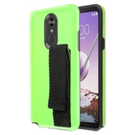 Fuse Slim Armor Hybrid Case with Integrated Hand Strap for LG Stylo 5 - Green