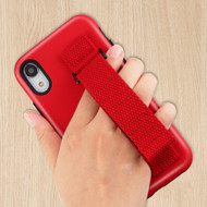 Fuse Slim Armor Hybrid Case with Integrated Hand Strap for iPhone XR - Red
