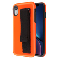 *Sale* Fuse Slim Armor Hybrid Case with Integrated Hand Strap for iPhone XR - Orange