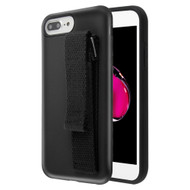 Fuse Slim Armor Hybrid Case with Integrated Hand Strap for iPhone 8 Plus / 7 Plus / 6S Plus / 6 Plus - Black