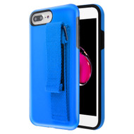 *Sale* Fuse Slim Armor Hybrid Case with Integrated Hand Strap for iPhone 8 Plus / 7 Plus / 6S Plus / 6 Plus - Blue