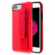 *Sale* Fuse Slim Armor Hybrid Case with Integrated Hand Strap for iPhone 8 Plus / 7 Plus / 6S Plus / 6 Plus - Red