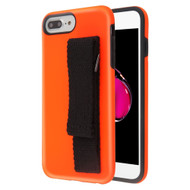 *Sale* Fuse Slim Armor Hybrid Case with Integrated Hand Strap for iPhone 8 Plus / 7 Plus / 6S Plus / 6 Plus - Orange