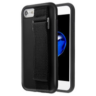 Fuse Slim Armor Hybrid Case with Integrated Hand Strap for iPhone 8 / 7 / 6S / 6 - Black
