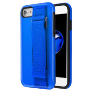 *Sale* Fuse Slim Armor Hybrid Case with Integrated Hand Strap for iPhone 8 / 7 / 6S / 6 - Blue