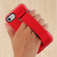 *Sale* Fuse Slim Armor Hybrid Case with Integrated Hand Strap for iPhone 8 / 7 / 6S / 6 - Red