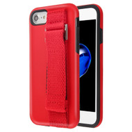 Fuse Slim Armor Hybrid Case with Integrated Hand Strap for iPhone 8 / 7 / 6S / 6 - Red