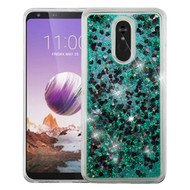 *Sale* Quicksand Glitter Transparent Case for LG Stylo 5 - Green