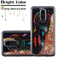 Quicksand Glitter Transparent Case for LG Stylo 5 - Dreamcatcher