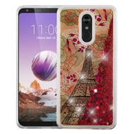 *Sale* Quicksand Glitter Transparent Case for LG Stylo 5 - Eiffel Tower Rose Gold