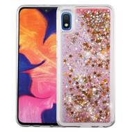 Quicksand Glitter Transparent Case for Samsung Galaxy A10e - Pink