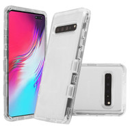 *Sale* Military Grade Certified TUFF Lucid Transparent Hybrid Armor Case for Samsung Galaxy S10 5G - Clear
