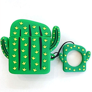 Novelty Silicone Protective Case for Apple AirPods - Cactus