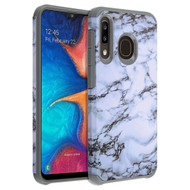 Hybrid Multi-Layer Armor Case for Samsung Galaxy A50 / A20 - Marble White 251