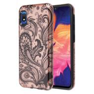Fuse Slim Armor Hybrid Case for Samsung Galaxy A10e - Phoenix Flower Rose Gold