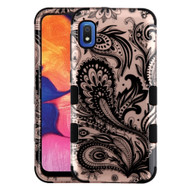 Military Grade Certified TUFF Hybrid Armor Case for Samsung Galaxy A10e - Phoenix Flower Rose Gold