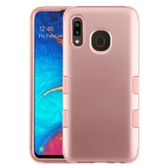 Military Grade Certified TUFF Hybrid Armor Case for Samsung Galaxy A20 - Rose Gold
