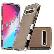 Military Grade Certified TUFF Lucid Transparent Hybrid Armor Case for Samsung Galaxy S10 5G - Smoke