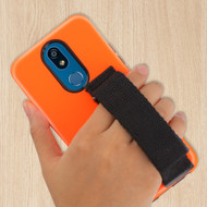 Fuse Slim Armor Hybrid Case with Integrated Hand Strap for LG K40 - Orange