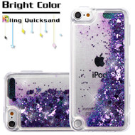 Quicksand Glitter Transparent Case for iPod Touch (5th, 6th and 7th Generation) - Purple