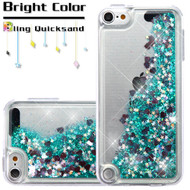 Quicksand Glitter Transparent Case for iPod Touch (5th, 6th and 7th Generation) - Green